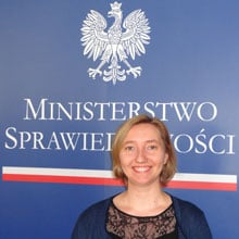 Ewa Hayward at the Polish Ministry of Justice